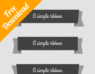 Flat Psd Ribbons ( Download )
