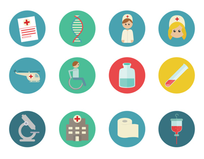 Medical Colorful Flat SVG icons