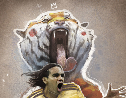 Radamel Falcao illustration