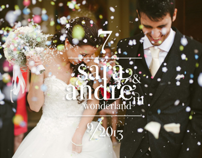 Sara & André in Wonderland | Wedding Planning