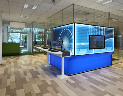 Internet station, Rabobank Woerden, the Netherlands