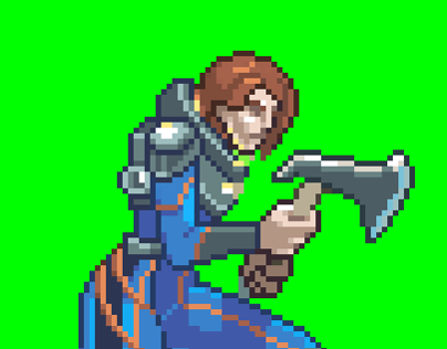 Prometheus E. Shaw axe fighting stance - sprite