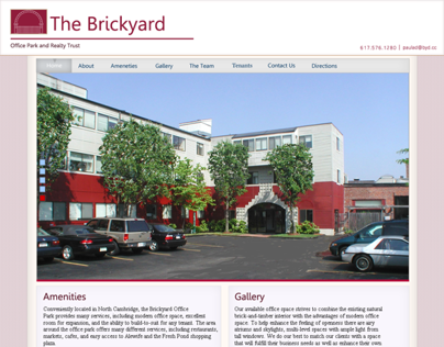 A rebuild of the Brickyard Office Complex website.
