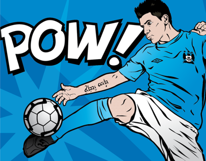 Stars of Football pop art style