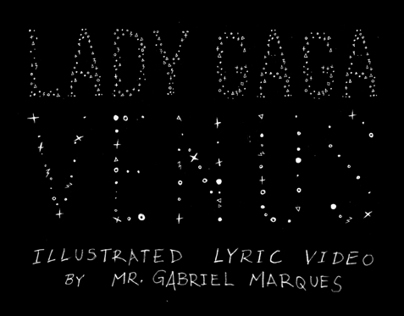 LADY GAGA VENUS ILLUSTRATED LYRIC VIDEO