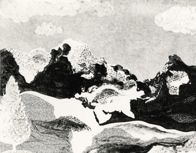 World landscape lithograph