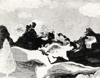 World landscape lithograph