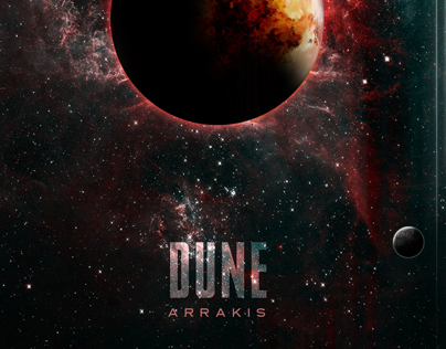 DUNE Arrakis Source of the Spice Epic Space Film Poster