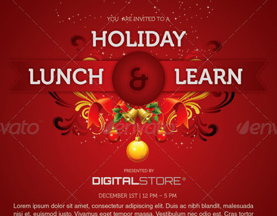 Holiday Lunch and Learn Flyer Template