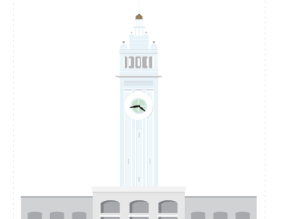 San Francisco Landmark Icons
