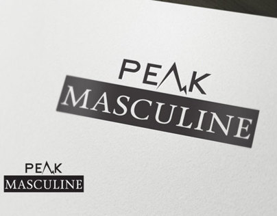 Peak Masculine Logo For Mens Dietary Products .