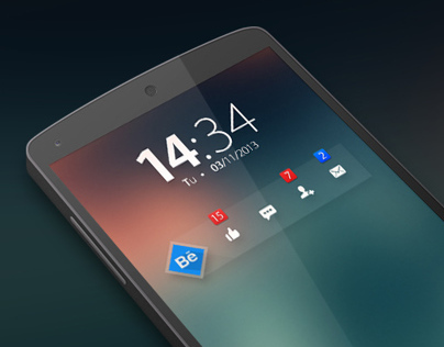 Behance notifications widget - Concept