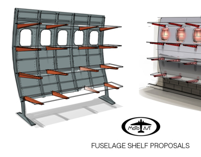 MotoArt Fuselage Shelf for LUXE Magazine