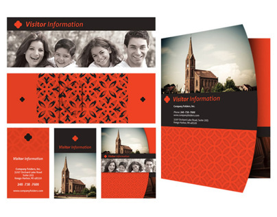 [Free Template] Church Visitor Card & Folder Design