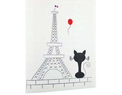Miss Whiskers Goes Travelling - card series