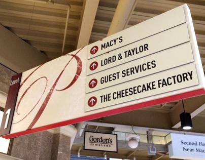 Palisades Center Interior Sign System