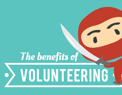 The Benefits of Volunteering Inforgraphic