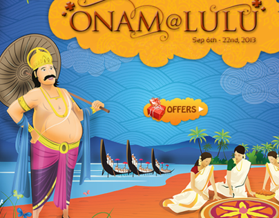 Onam celebration events at lulu mall Facebook App UI
