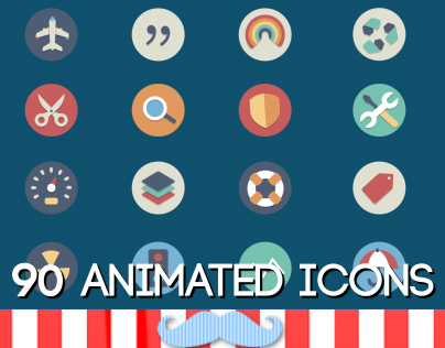 90 Animated Icons // Videohive