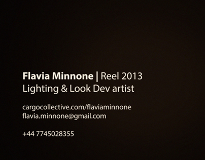 Flavia Minnone Lighting Showreel 2013