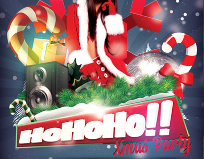 HoHoHo Xmas Party Flyer Template