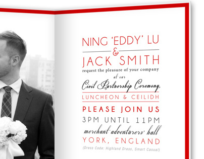 Smith - Wedding Invitation