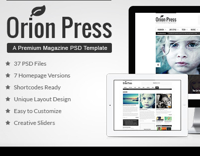 Orion Press – Blog & Magazine Template