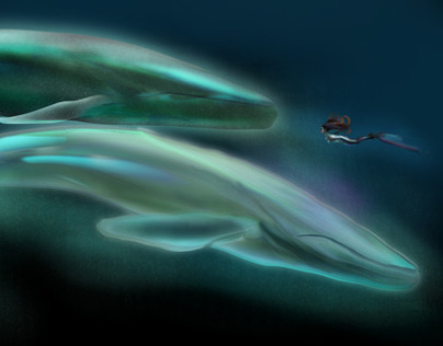The Silent One and the magic blue whales