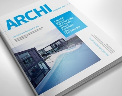 Architecture magazine template