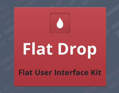 Flat Drop - Awesome Flat User Interface Kit