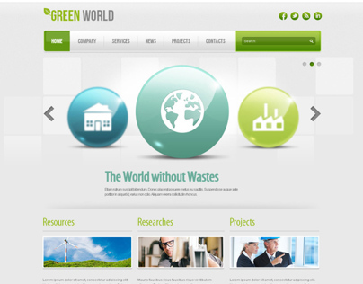 Green World Energy Company Joomla Template