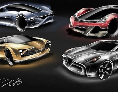 My latest quick car sketches