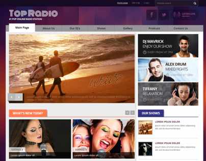 Top Radio #1 Pop Online Radio Station Joomla Template