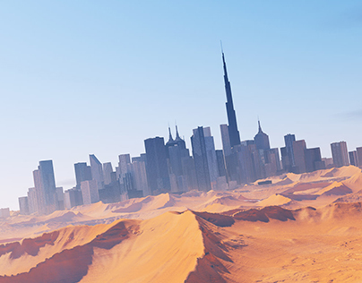 Dubai Concept Illustration