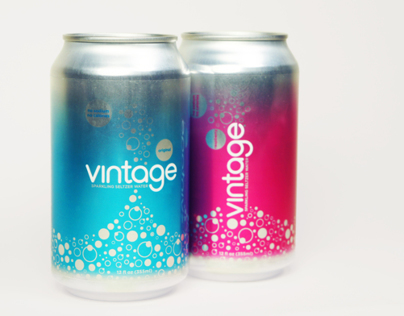 Vintage Sparkling Seltzer Water Packaging Redesign