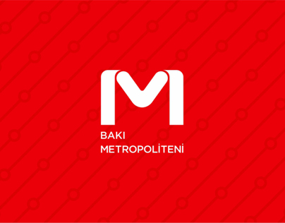 Logo concept of the metro Baku