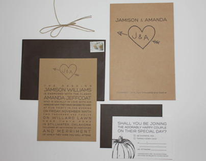 J&A Wedding Invitation