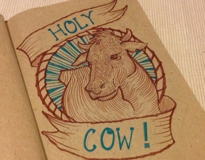 Holy Cow! Indian art history doodle