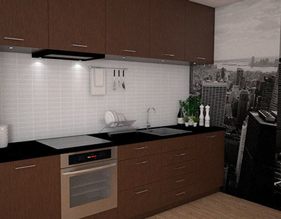 Kitchen visualisation - Material choice