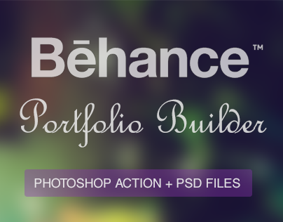 Behance Portfolio Builder: Photoshop Action + PSD