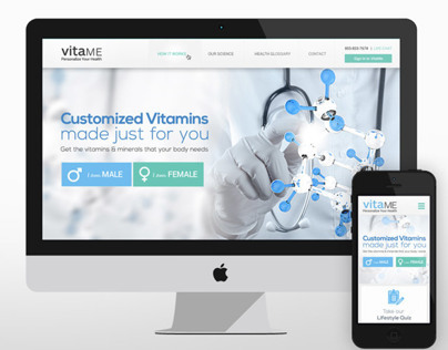 Vitame Website: UI/UX Design Work