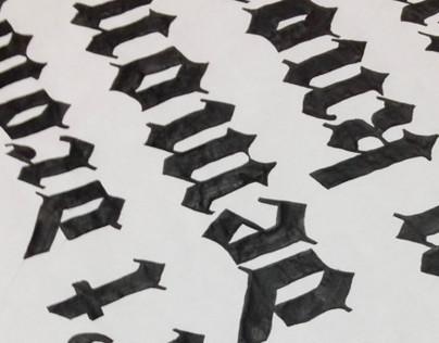 Gothic Handlettering
