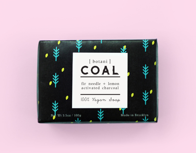 [botani] COAL - Soap Packaging design