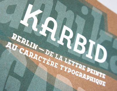 FF Karbid In-Use: Berlin–From Lettering to Type Design