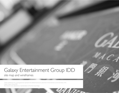 Galaxy Entertainment Group IDD way finding wireframes