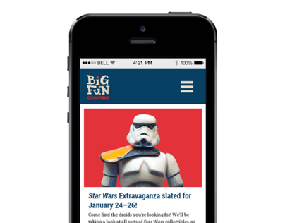 Big Fun Columbus - Responsive Website