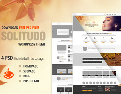 4 PSD file of Solitudo theme