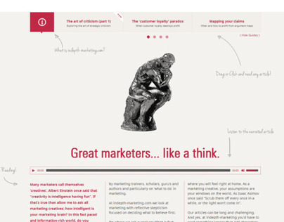 Blog re-design (for indepth-marketing.com)
