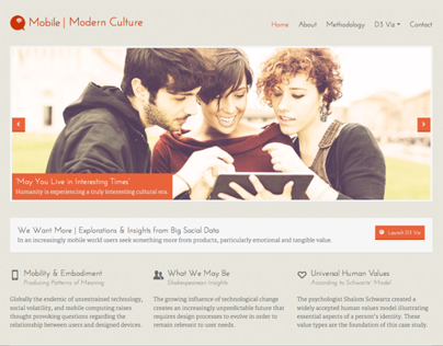 Mobile + Modern Culture Website