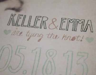 Keller & Emma Wedding Invitation